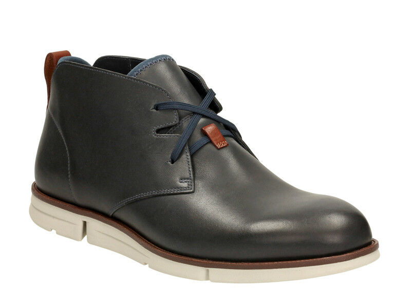 Clarks Mens  Smart Trigen Mid , Premium Soft Navy Lea , Flex3 sole  UK 7,10 G
