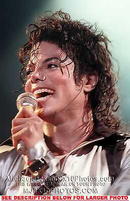 MICHAEL JACKSON 1987 BAD TOUR ONSTAGE 1xRARE PHOTO