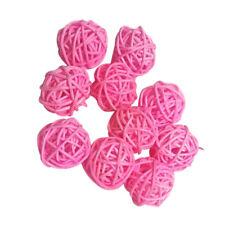 10x Wicker Rattan Balls 3cm for DIY Vase Bowl Filler Displays Garden Crafts
