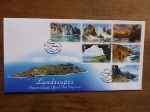 PITCAIRN-Is-2016-LANDSCAPES-SET-6-STAMPS-FDC-FIRST-DAY-COVER