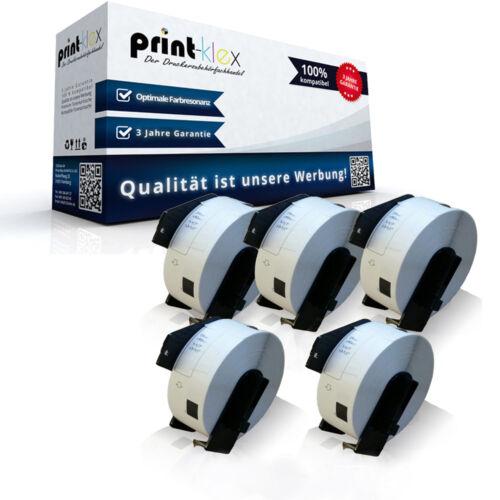 5x Kompatibel Etiketten Rollen für 29x90mm DK-11201 Laser Serie