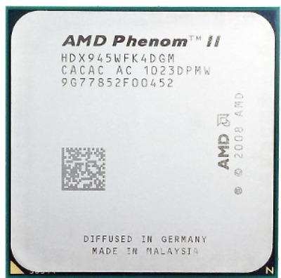 AMD CPU Phenom II X4 945 3.0GHz Socket AM3 HDX945WFK4DGM