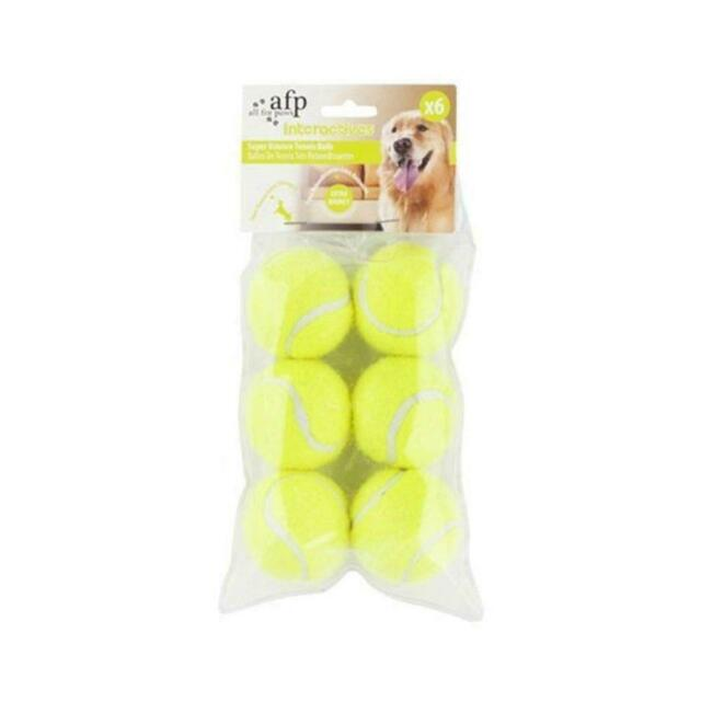 6 Pack All For Paws Interactive Replacement Balls For AFP Fetch N Treat Toy