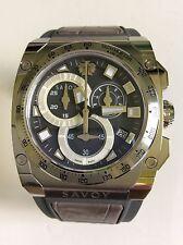 Savoy Men's Watch Icon Extreme Grey Rubber Strap Chrono S1.11B1T.1001.R10001