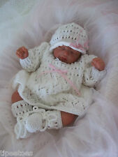Baby Knitting Pattern DK 21 TO KNIT Girls or Reborn Dolls Dress Hat Bootees