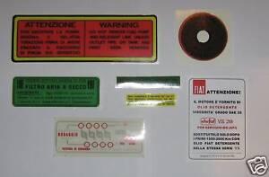 FIAT-600-600-MULTIPLA-ADESIVI-MOTORE-ENGINE-STICKERS