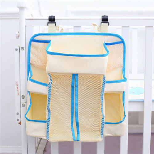 Baby Bedside Hanging Storage Bag Diaper Nursing Bottle Hanger Nappy Organizer DP