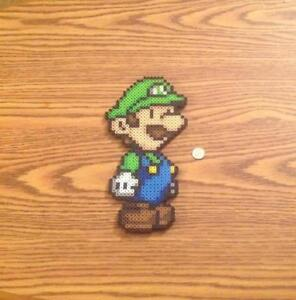 Details About Luigi Pixel Art Super Mario Bros Super Mario Princess Peach Toad Bowser