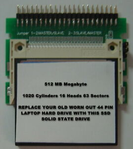 512MB-SSD-Replace-Old-2-5-034-IDE-Laptop-Drives-with-this-SSD-44PIN-Card-amp-Adapter
