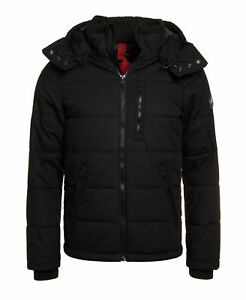 New-Mens-Superdry-Bluestone-Jacket-Black