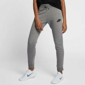 859ce0d620af Image is loading Nike-Sportswear-Slim-Fit-Womens-Trackpants-Grey-Size-