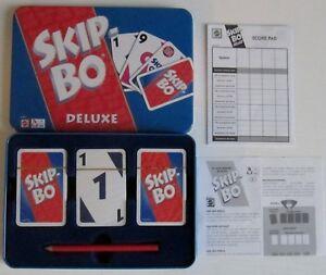 Comme neuf, car dedans Ovp: Skip Bo Deluxe! Dans la boite en métal! Toutes les cartes glissent !!!