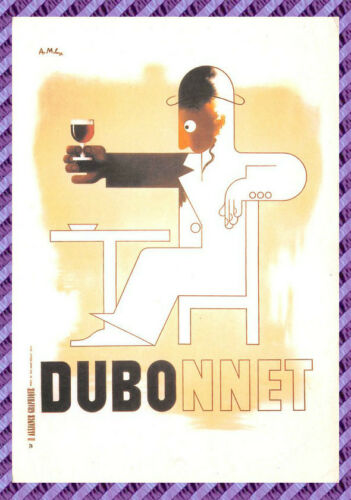 "Postcard Advertising DUBONNET "" DUBO """