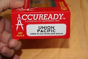 ACCURAIL-82030-50-039-COMBO-DOOR-BOX-CAR-UNION-PACIFIC-RTR-NEW