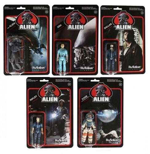 """Funko Super 7 Reaction Alien 3.75/"""" ACTION FIGURE SET OF 5 scellé Case"""