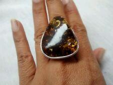 Runway statement artisan studio  sterling 925 amber  ring size 7