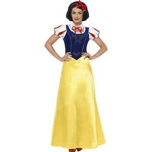 finest selection 94baf 668f9 Details zu Damen Schneewittchen Prinzessin Märchen Karneval Schickes Kleid  Kostüm