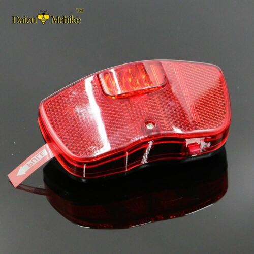 Leds Red Safety Bike Light Flashlight AA Replace Battery Mount on the Rear Rack