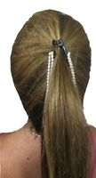Long 6 Inch Banana Hair Clips Hold Barrette Single Row Double Row Pearls