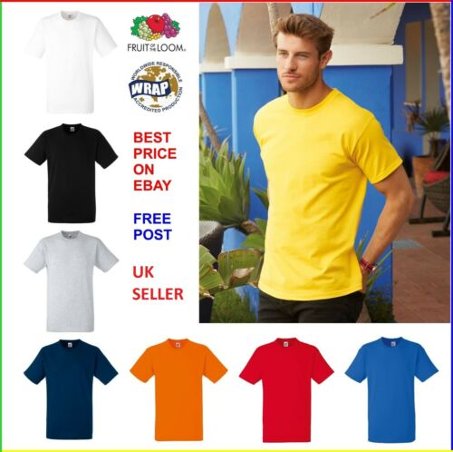 FRUIT OF THE LOOM MIX MENS COTTON T-SHIRTS WHOLESALE SMALL TO 5XL BULK BUDGET