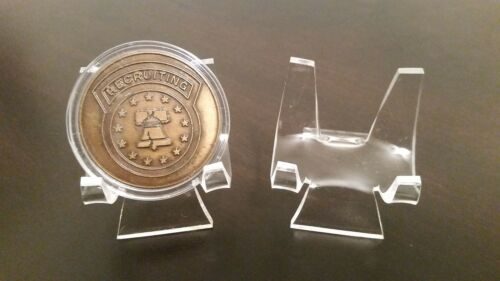 """5 Premium 3/"""" Display Stand Easel Challenge Coins Medals Medallions Tokens"""