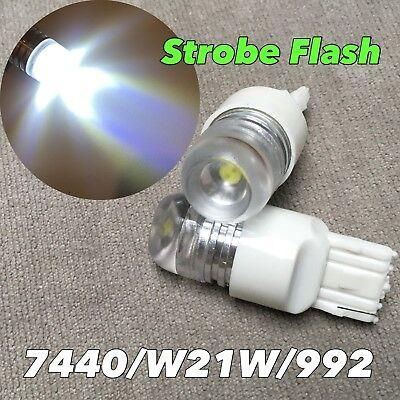 Front Turn Signal Light T20 7440 7441 W21W 992 63 6000K White LED Bulb W1 JAE