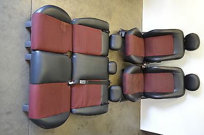 Ford Focus SVT Red Insert Seats From Rear Seat Set Genuine Oem 2000-2005