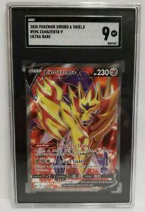 SGC 9 MINT Zamazenta V 196/202 SWSH Sword & Shield FULL ART Pokemon Ultra Rare