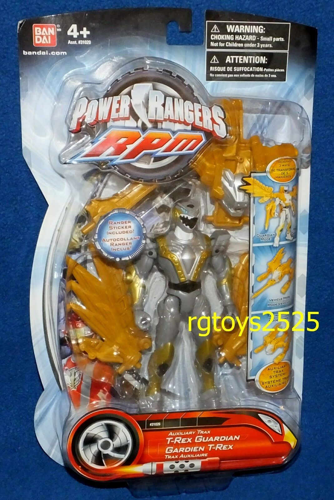 Power Rangers RPM Auxillary Trak T-Rex Guardian 5