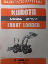 Kubota Bf400 Front End Bucket Loader Diesel Farm Tractor Parts Catalog Manual