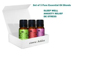 Pure-amp-Natural-Essential-Oil-Blends-Aromatherapy-Set-of-3-Life-Style-Blends
