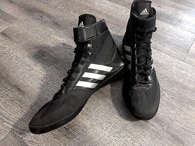 Brillar Comprometido Persistente  Adidas | AQ3325 | HVC 2 Adult | Black & White Wrestling Shoes Size 11.5  MENS | eBay
