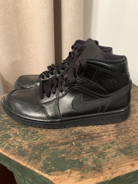 Nike Air Jordan 1 Mid 'Triple Black' Men's Sneaker shoes554724-090 US Size 8