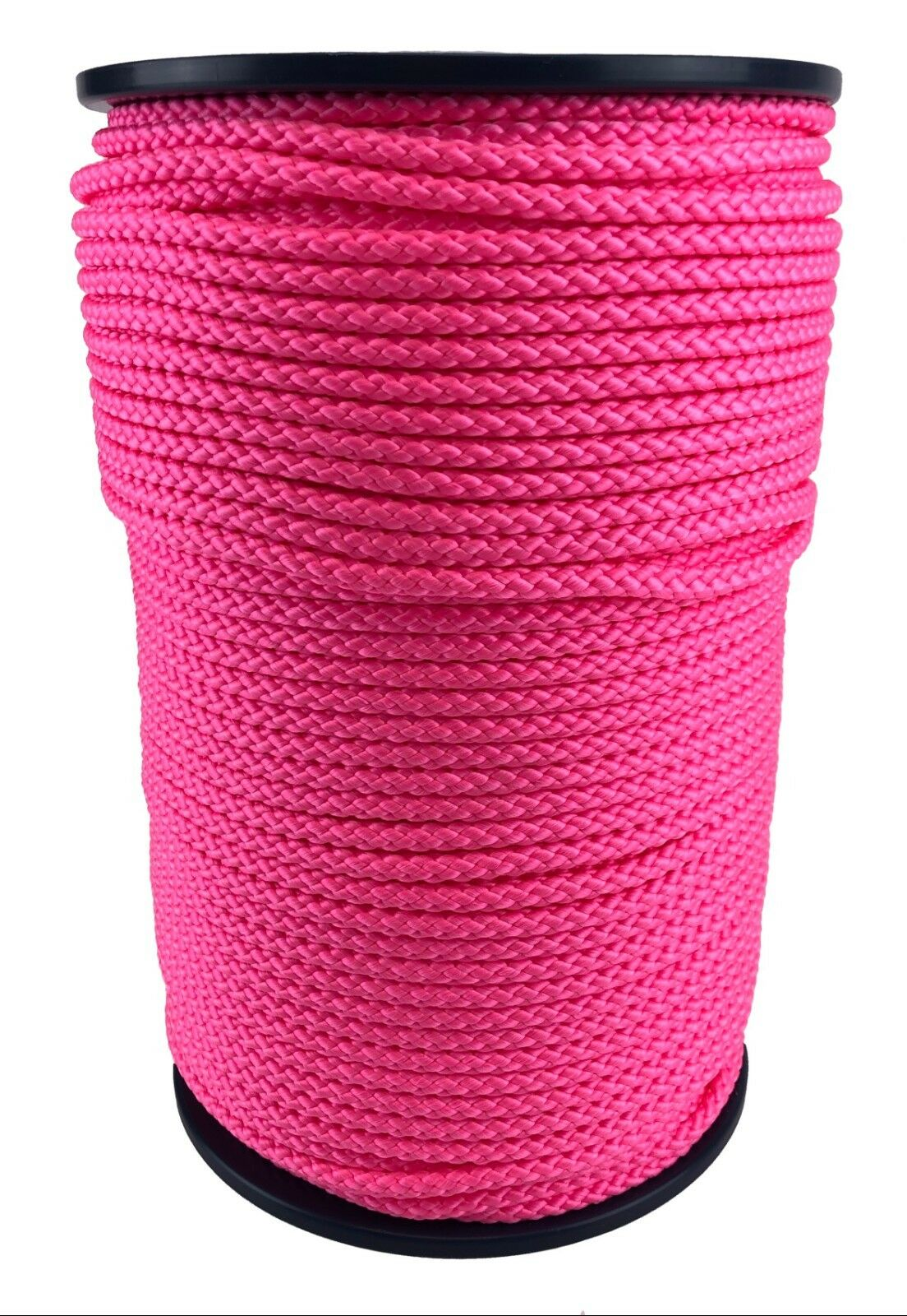 Polypropylene Rope PP 6mm 100m Neon-Pink Braided Poly Rope Paracord Drawstring