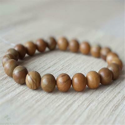 8mm Natural Lava Stone Gemstone Mala Bracelet Stretchy Buddhism Reiki Lucky
