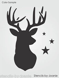 Stencil 8 Buck Deer Head Antler Rack Rustic Mountain Man Cave Cabin