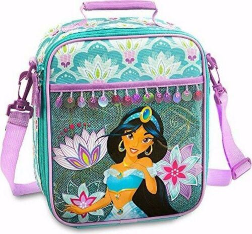Disney Store Aladdin Princess Jasmine School Backpack /& Lunch Box Bag Set Combo