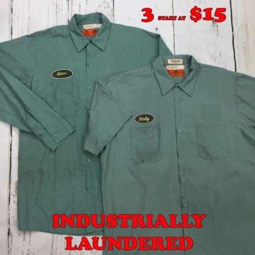 Red Kap Shirts Light Green Short Long Sleeve Men/'s Work Uniform PACKS START $15