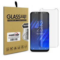 Samsung Galaxy S8 Tempered Glass Screen Protector, Full Clear, Full Curved Cover on sale