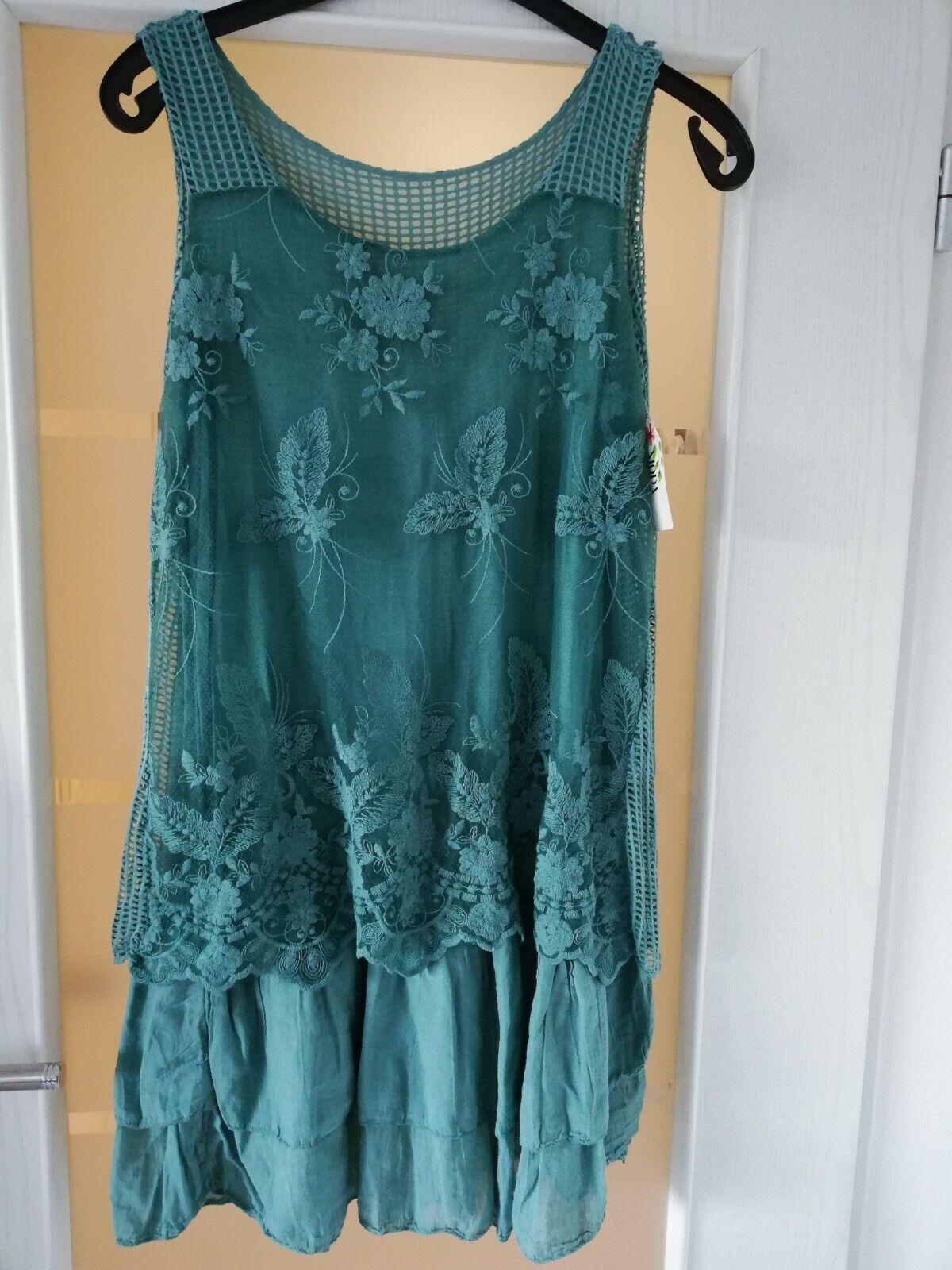 Traumhafte Kleid Sommerkleid Urlaubskleid  Free Größe Gr. 38-40