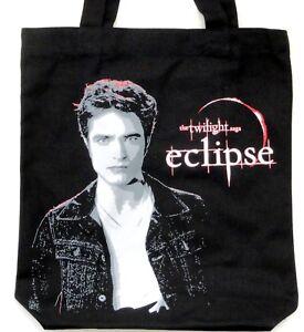 Twilight-Saga-EDWARD-Eclipse-Tasche-Shopping-Bag-BLACK-CANVAS-Einkaufstasche