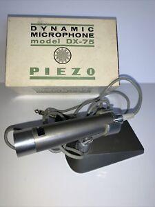 Vintage Piezo Dynamic Microphone Model DX-75 Japan In Original Box Untested