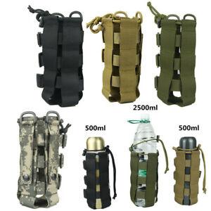 Tactical Molle Water Bottle Carrier Holder Pouch Adjustable Kettle Bag Outdoor .