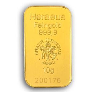 10 Gramm Goldbarren - verschiedene Hersteller - 2. Wahl