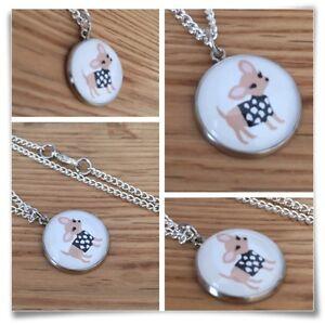 Chihuahua-Chi-Dog-Miniature-Charm-pendant-necklace-W1