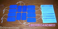 12 Replacement Electrode Pads For Top Tens Units 2 X 3.5 Inch Blue Cloth
