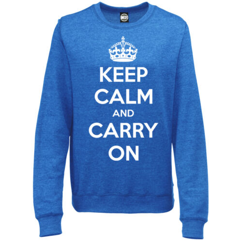 KEEP CALM AND CARRY ON CLASSIC WOMENS PRINTED SWEATSHIRT JUMPER