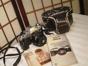 CANON-AL-1-QF-SLR-35mm-FILM-CAMERA-w-FOCAL-MC-28mm-2-8-FD-LENS-amp-ORIGINAL-CASE