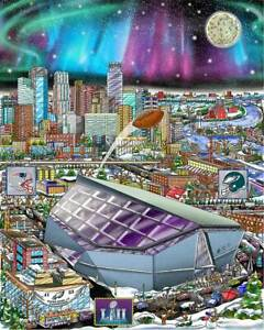 Charles-Fazzino-034-Super-Bowl-LII-Minneapolis-3D-Limited-Editon-print