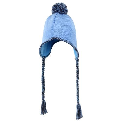 CUFFIA a TRECCINE Nappe LATERALI Inverno INCA Uomo DONNA Invernale CAPPELLO Hat